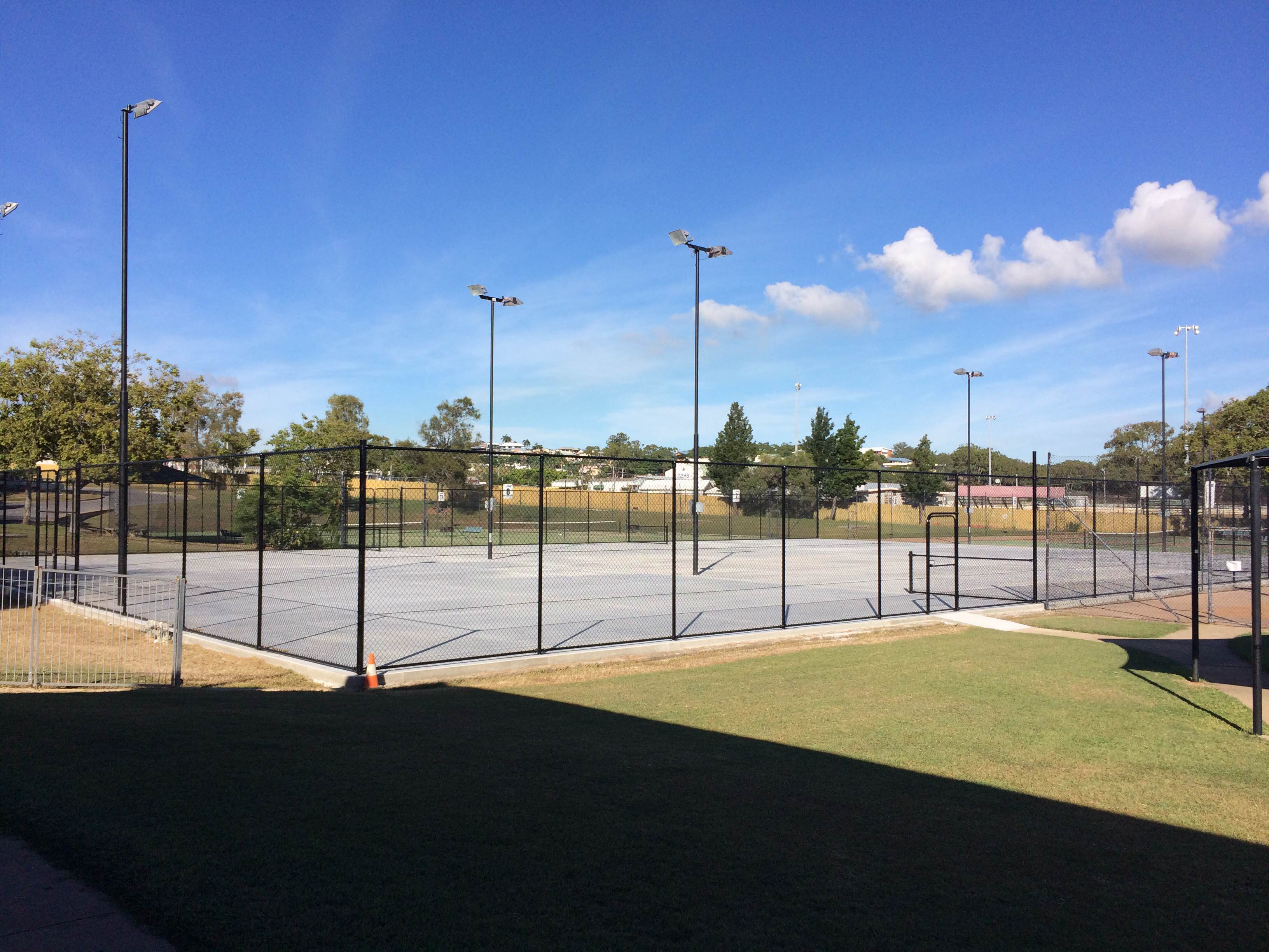 Court 5 new fencing