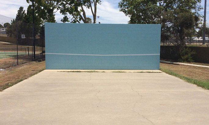 Tennis Hitting wall at Gladstone Tennis and Squash Club