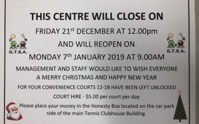 Opening Hours Christmas New Years